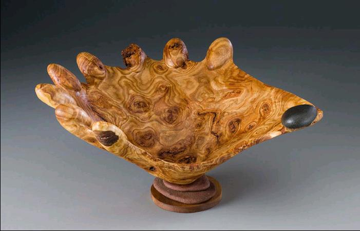 Tim Byrns' burlwood sculptures