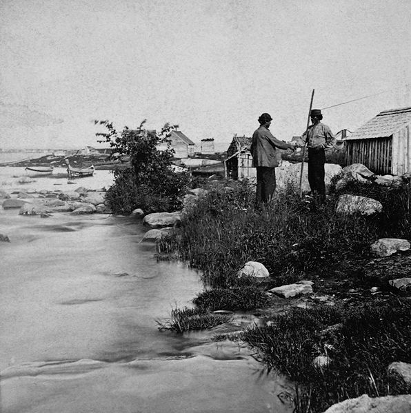 Family Fishing in the 1800s