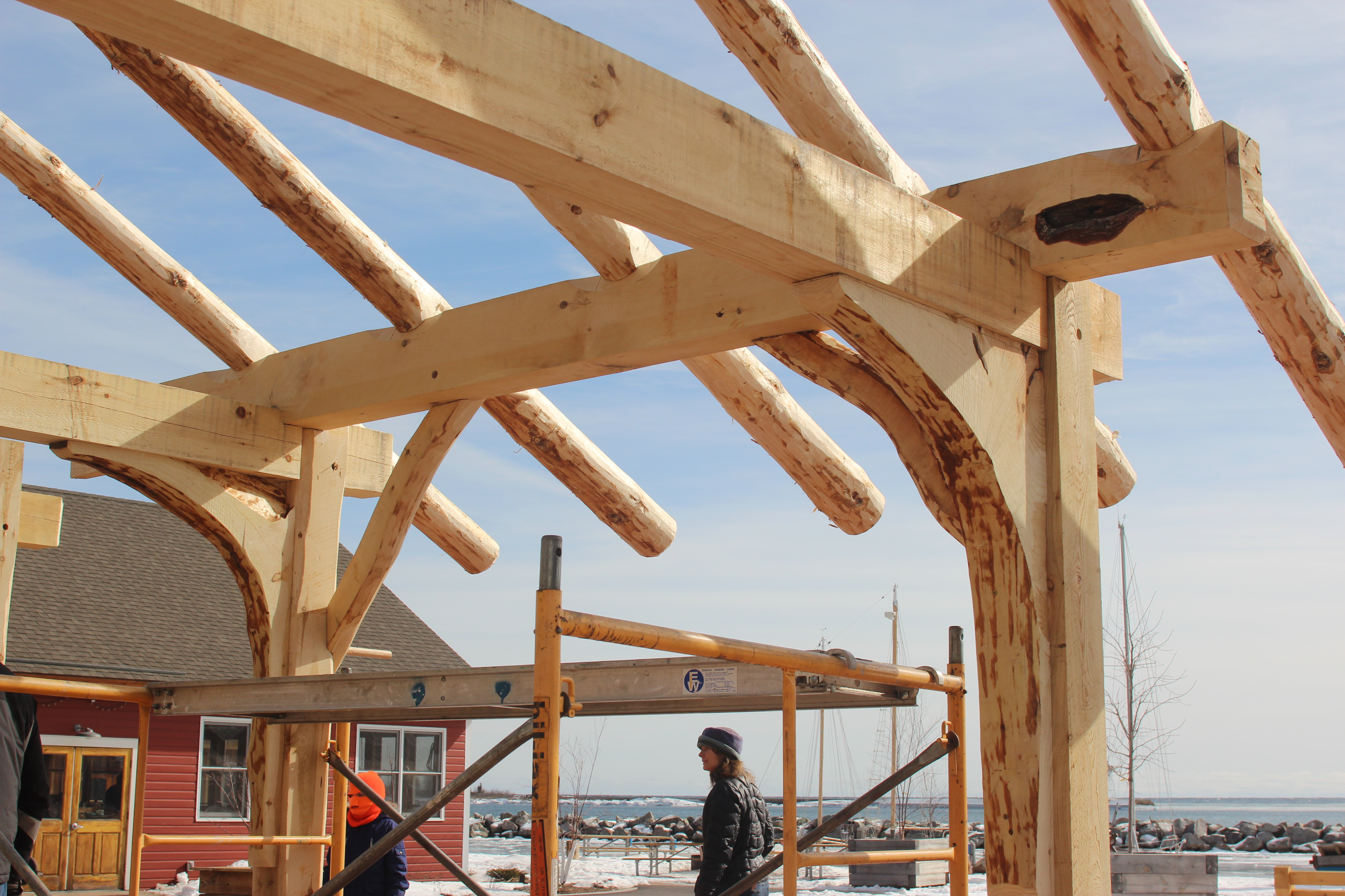Building a traditional Norwegian grindbygg timber frame – Ampers