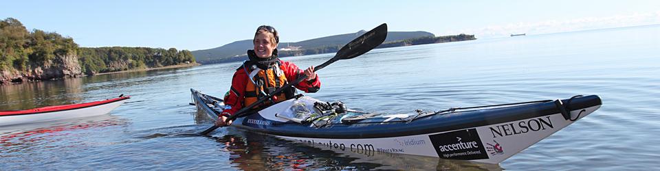British adventurer Sarah Outen circling the globe by kayak, rowboat & bicycle