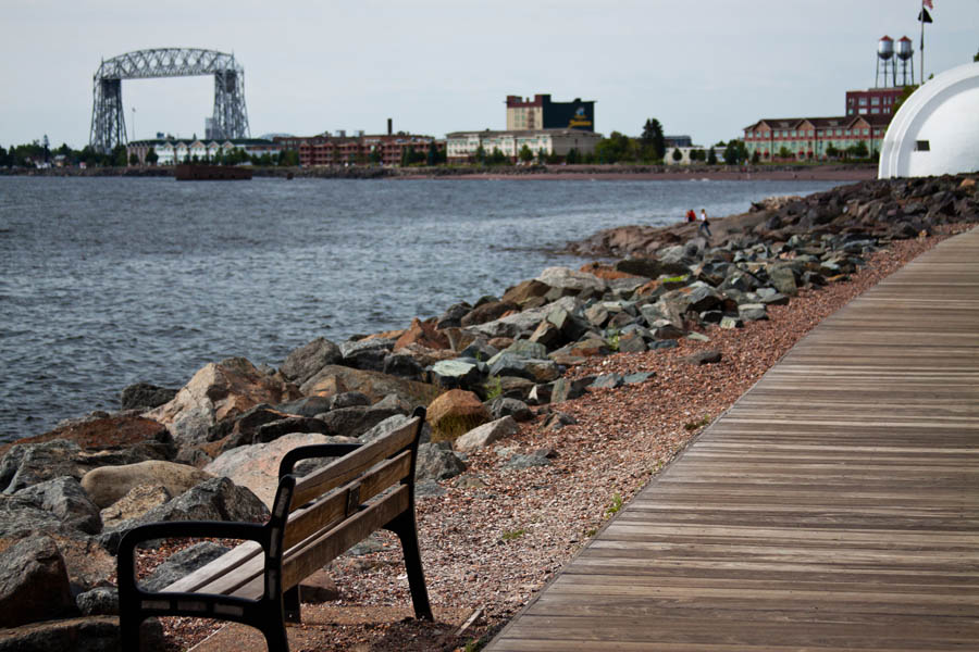 The natural side of Duluth's Lakewalk