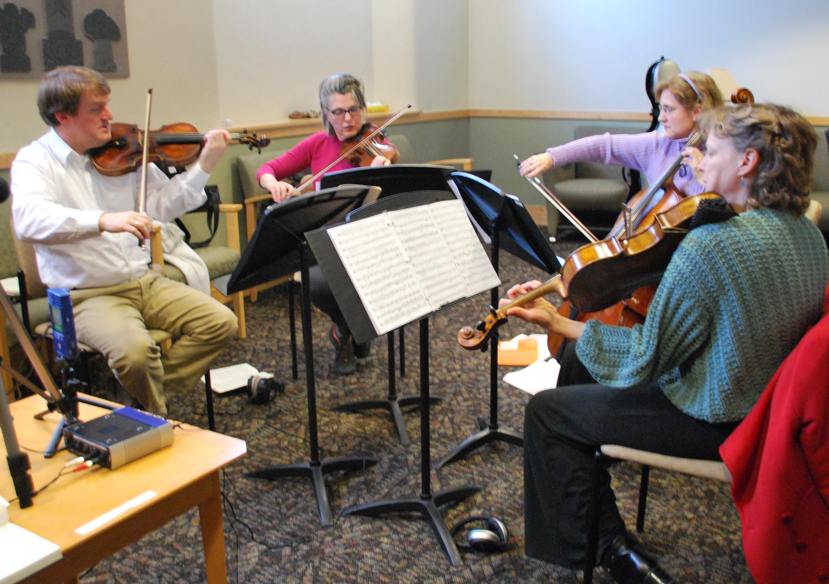 Artaria String Quartet entertains and educates
