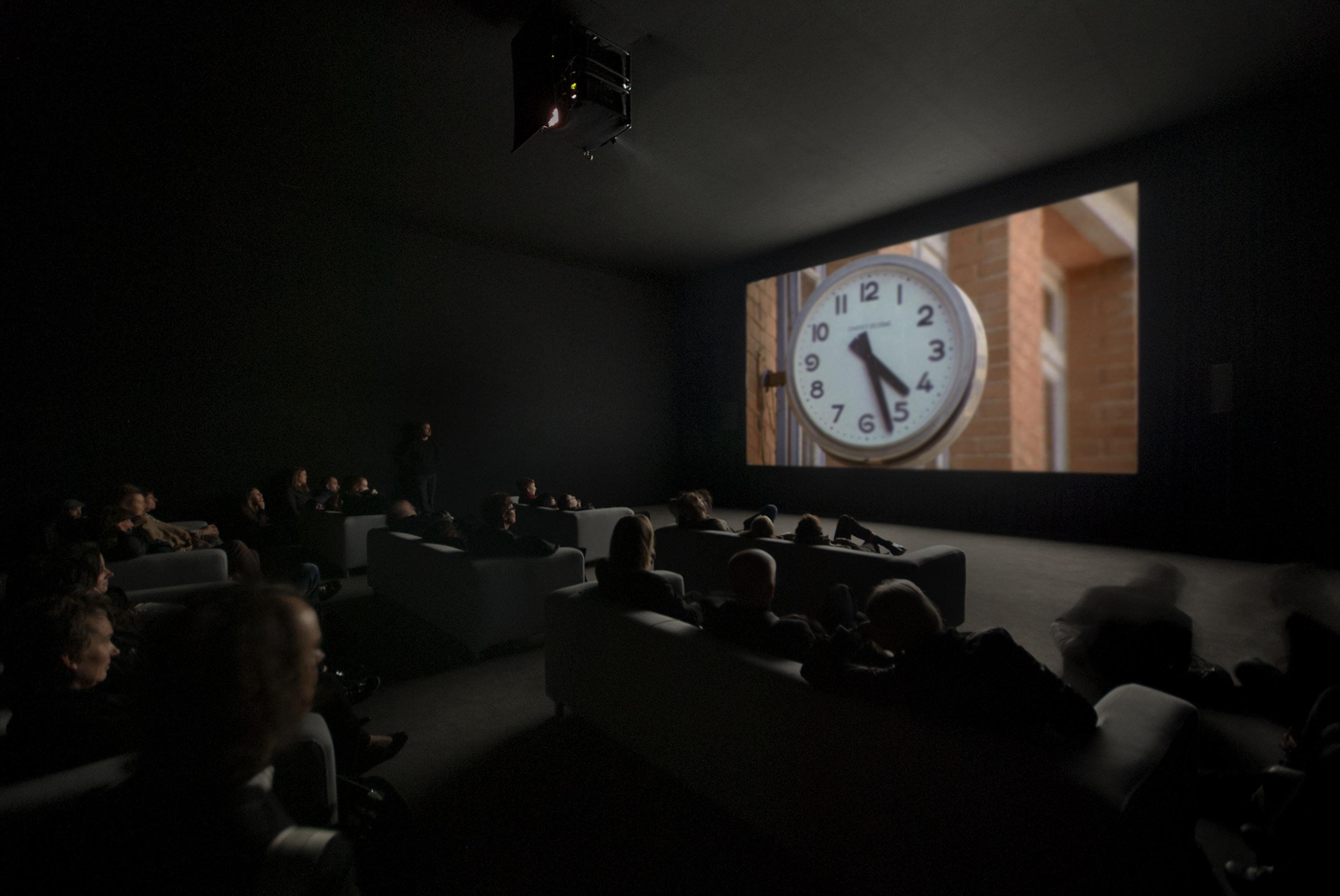 The Clock keeps time at Walker Art Center