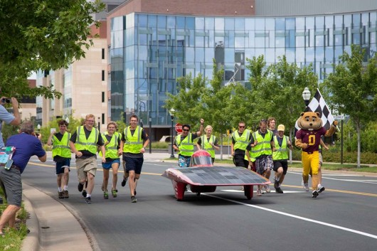 U of MN Solar Vehicle Project car takes 2nd in American Solar Challenge race