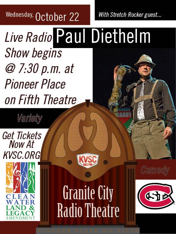 Granite City Radio Theater: Season 3 Opener with Musical Guest Paul Diethelm Hour #1