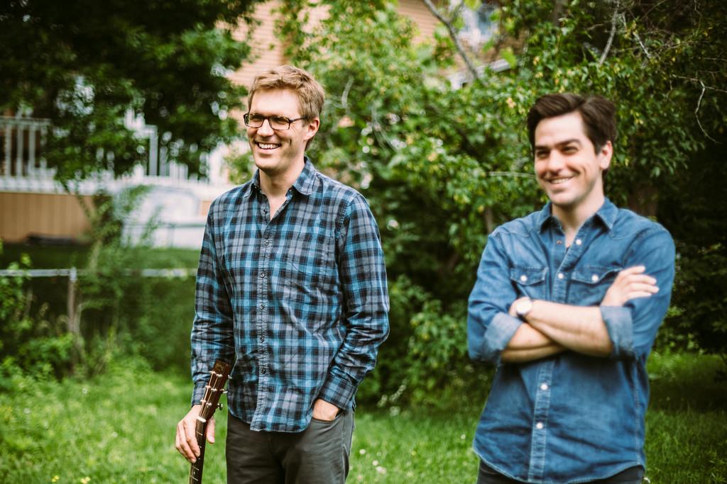 Brian Miller and Randy Gosa Sing Songs of old Northwoods Irish Lumberjacks.