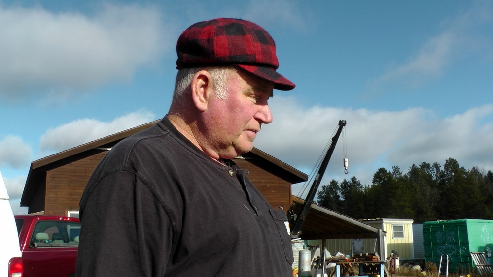 Louie Fournier, logger and chainsaw collector, Cass Lake, MN