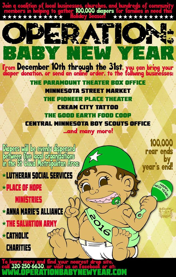 Operation Baby New Year Seeks 100,000 Diapers for Families in Need