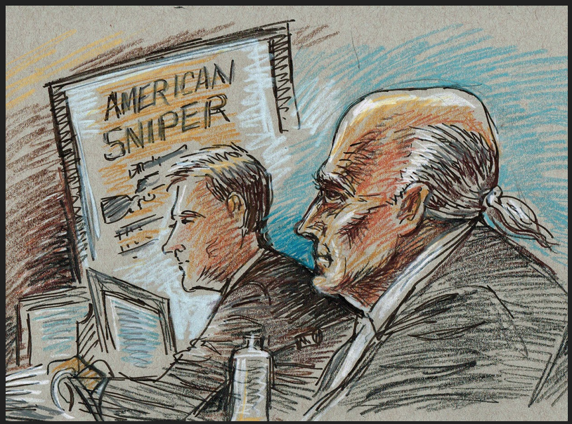 Sketching Courtroom History