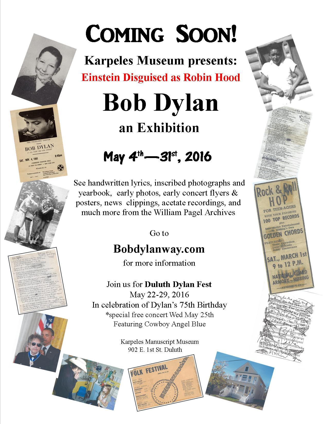 New exhibit at Duluth's Karpeles Museum features Dylan memorabilia