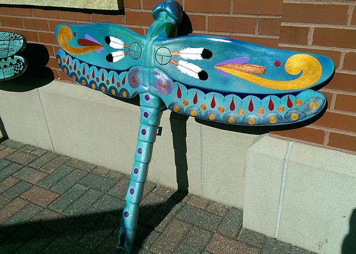 Bemidji Sculpture Walk's Dragonfly Auction at Rail River Folk School
