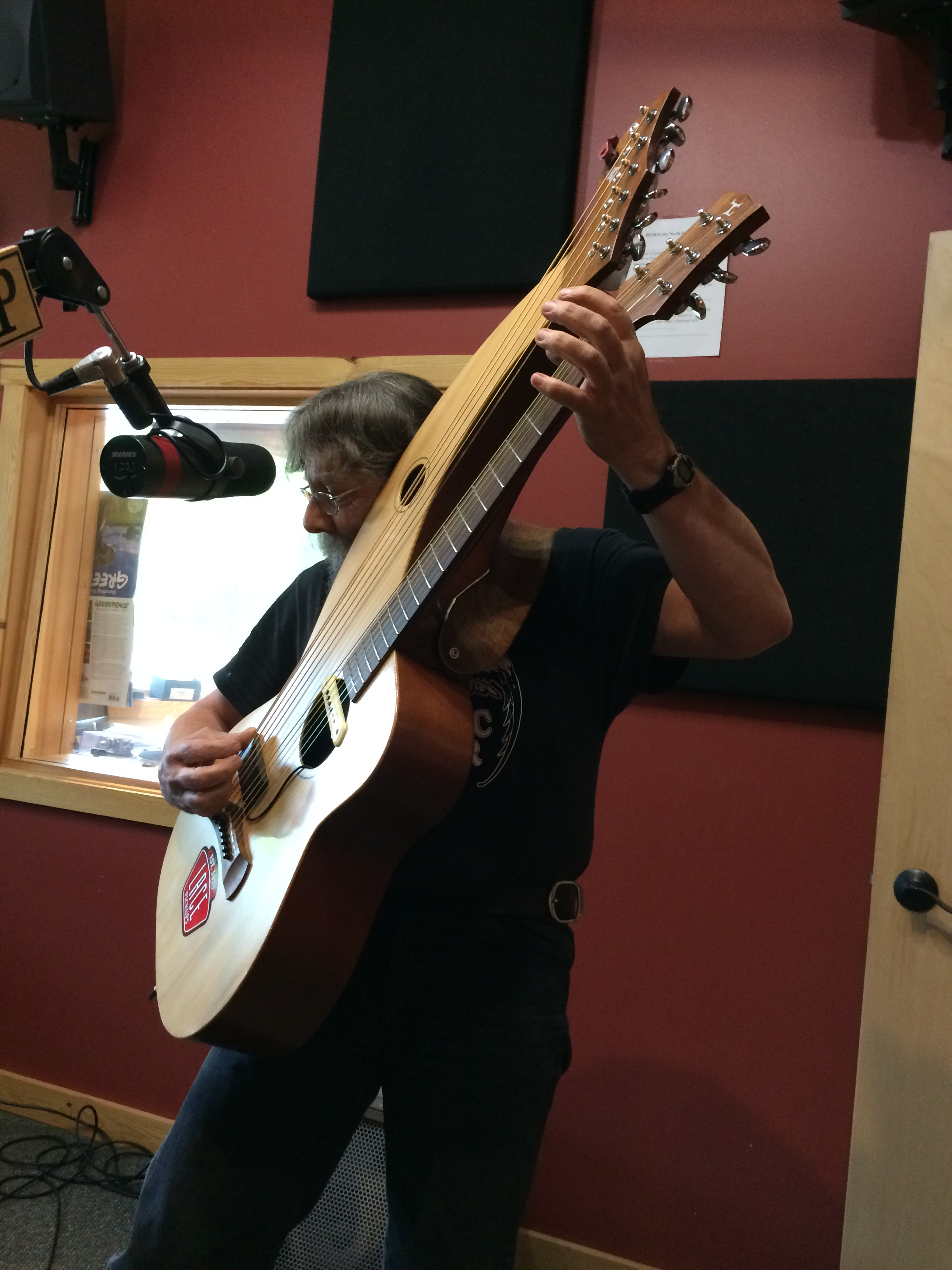 Jon Kallberg performs on three different guitars