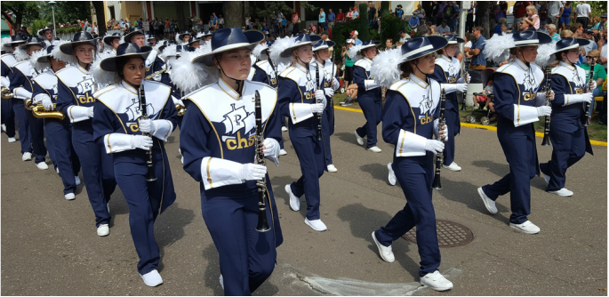 Crookston Pirate Marching Band represents northwest Minnesota at the State Fair