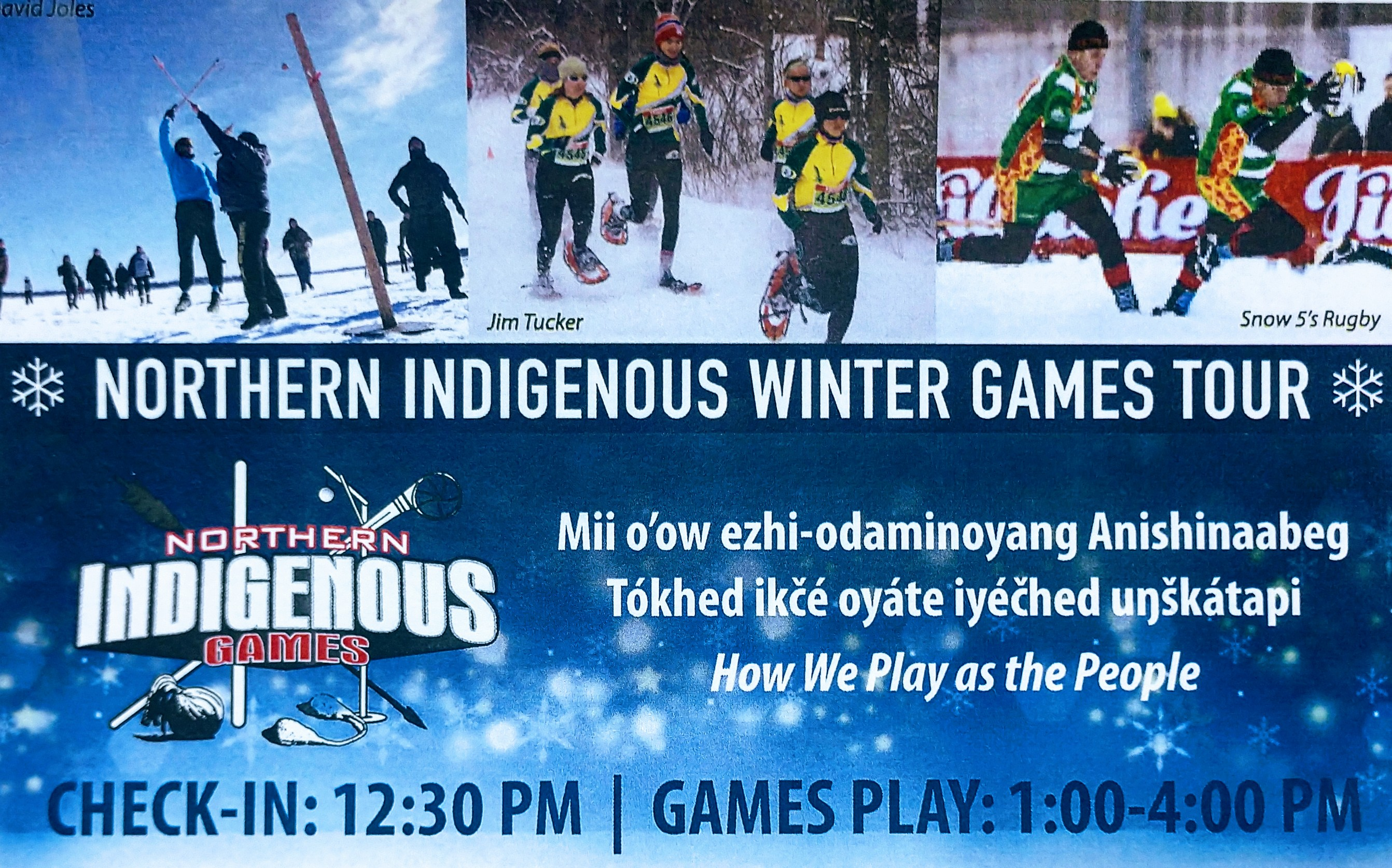 Northern Indigenous Winter Games Tour Begins January 5th!