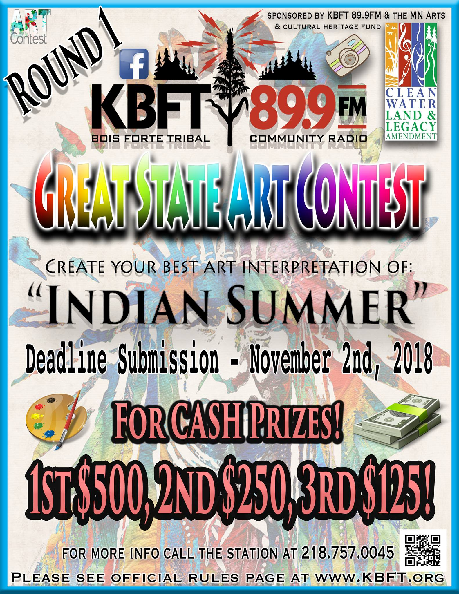 KBFT's Great State Art Contest – Round 1 – Indian Summer Theme