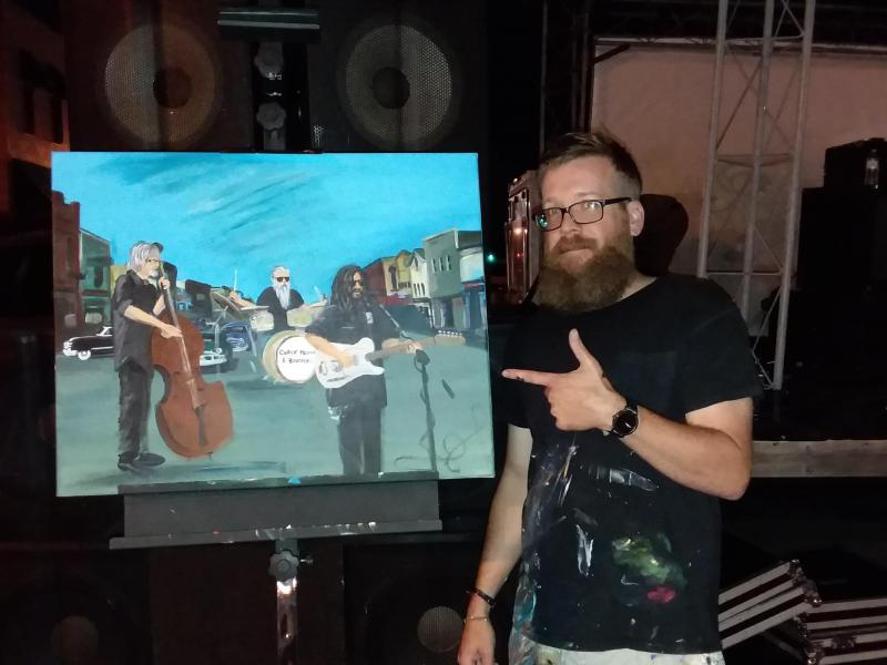 Nate Luetgers: Live-Painter and Art Instructor