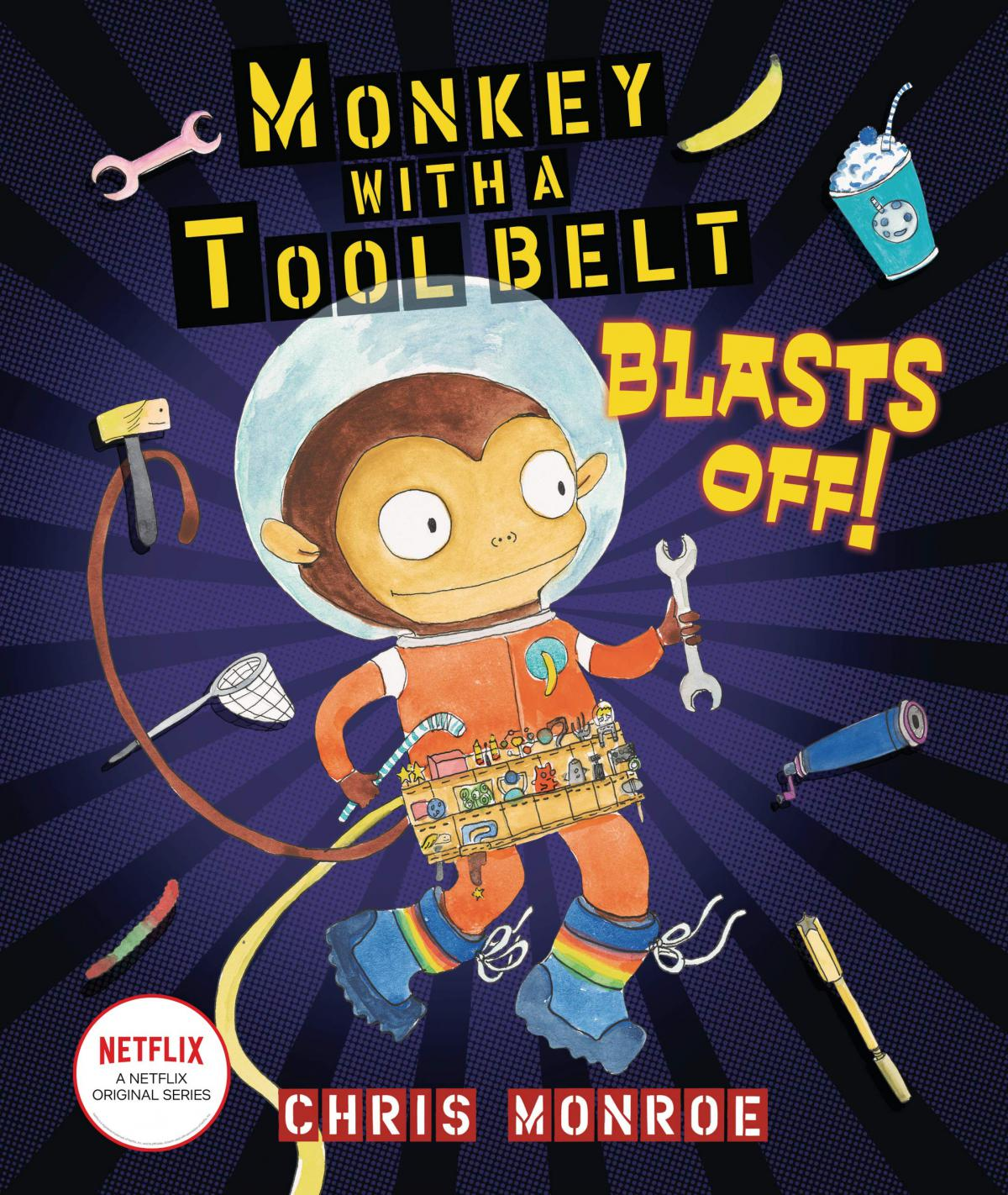 """MN Reads: """"Monkey with a Tool Belt Blasts Off"""" by Chris Monroe"""