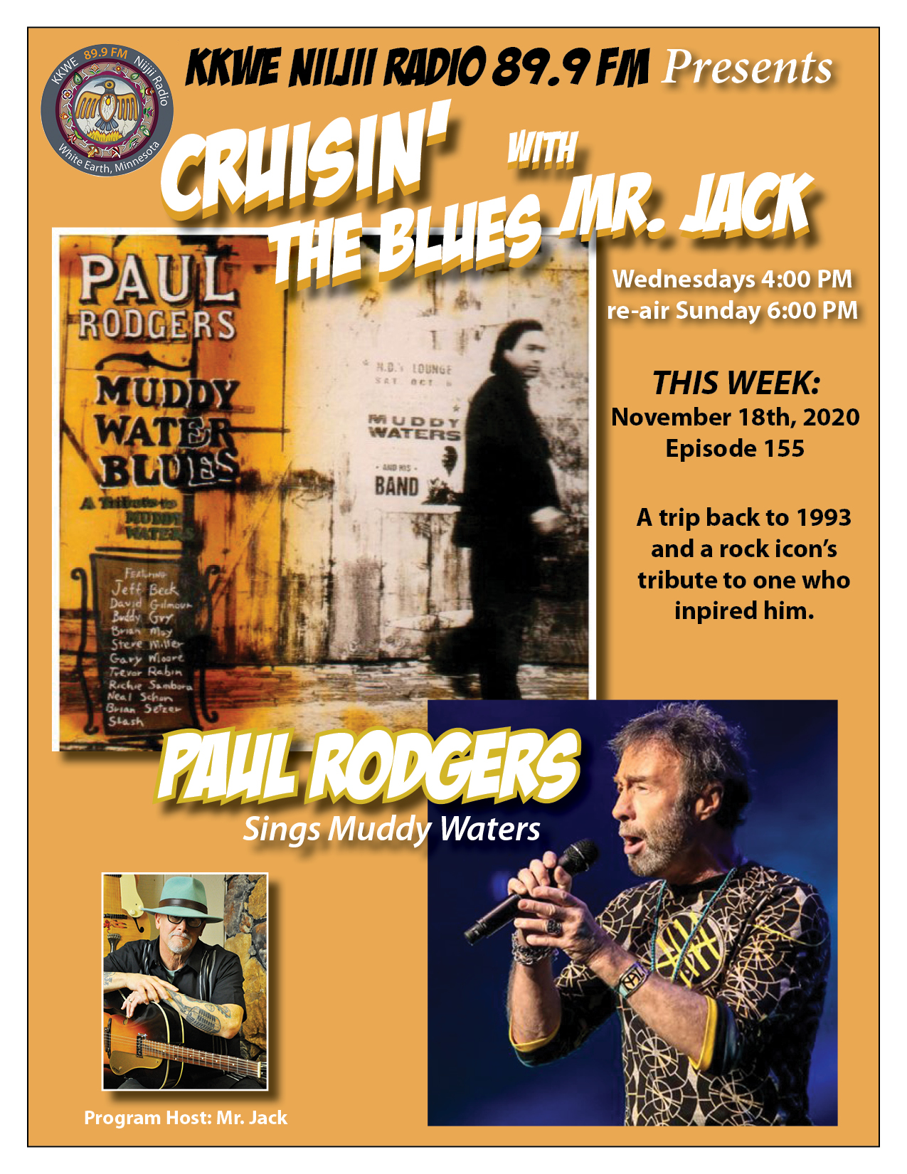 "EP155 Paul Rodgers ""Muddy Water Blues"""
